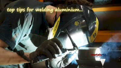 Top tips for welding aluminium