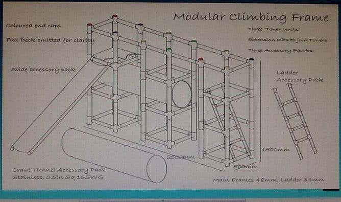Jilly Hatton - Modular climbing frame