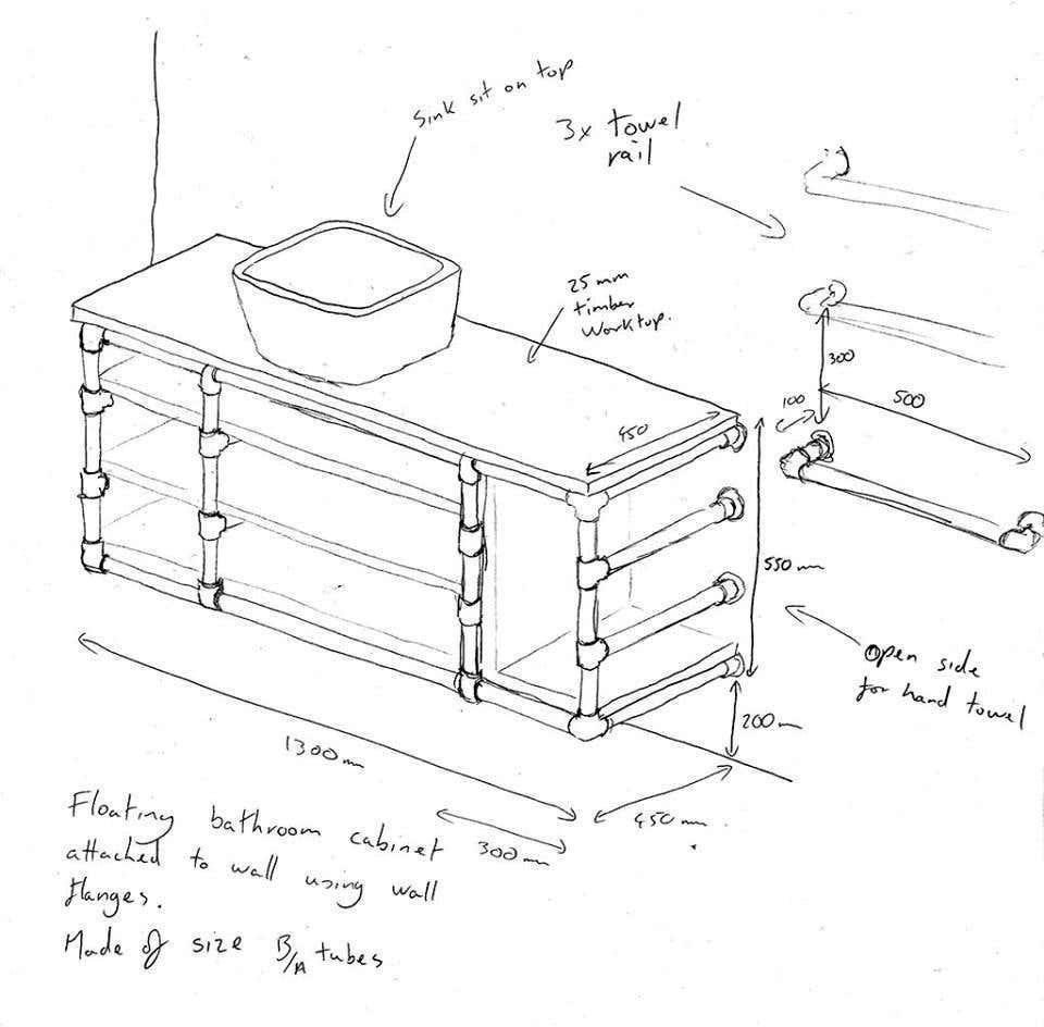 Rusty Murphy - Bathroom cabinet