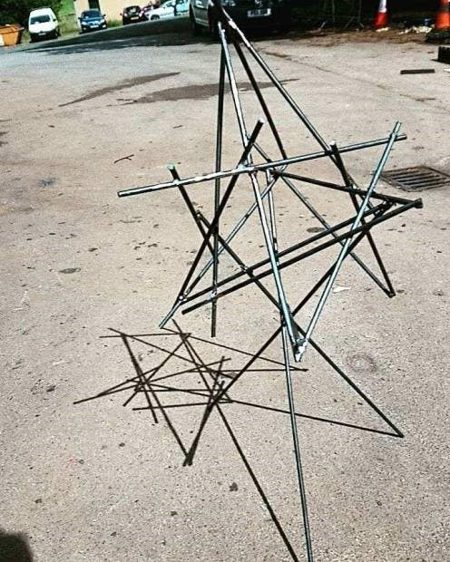 Metal sculpture created by Student Sculptor winner Jessica Smith at Brian Fell's Midsummer Metals workshop