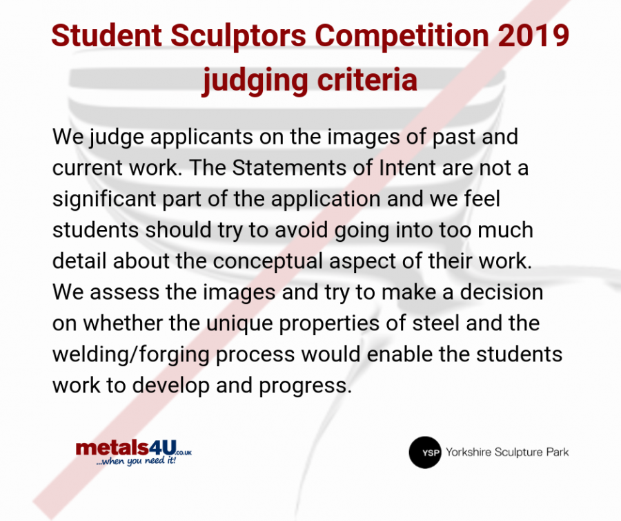 metals4U Student Sculptor Competition Winner 2019