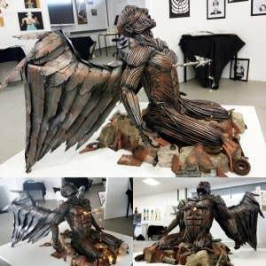 metals4u student sculptor Cameron Lings