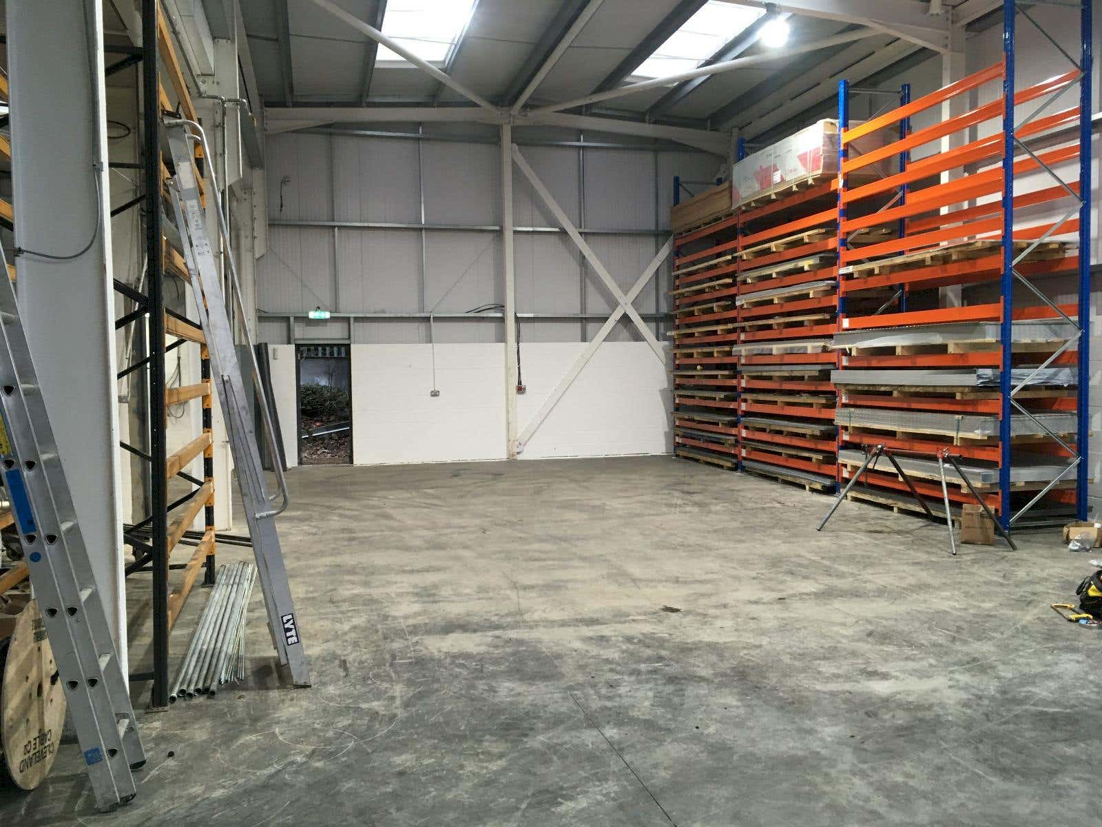 finished aluminium warehouse in Wetherby, metals4U online metal stockist storage facility.